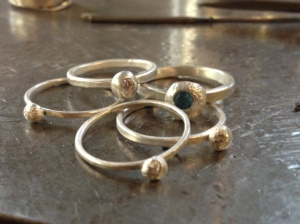 stackable pebble rings
